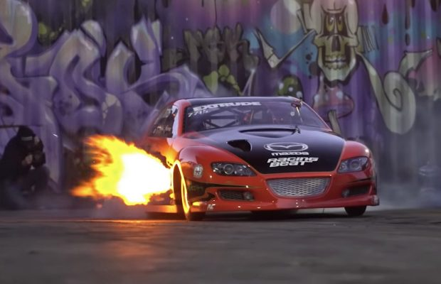Mazda RX-8 drag racer Boosted