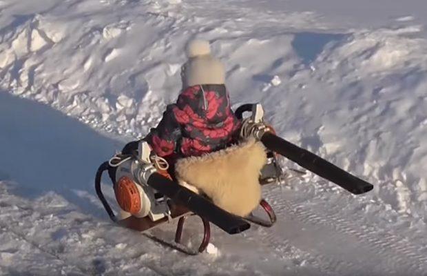 Leg om vinteren på slæde