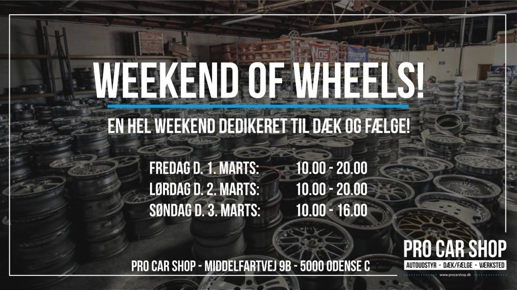 Pro car shop Odense Weekend of wheels