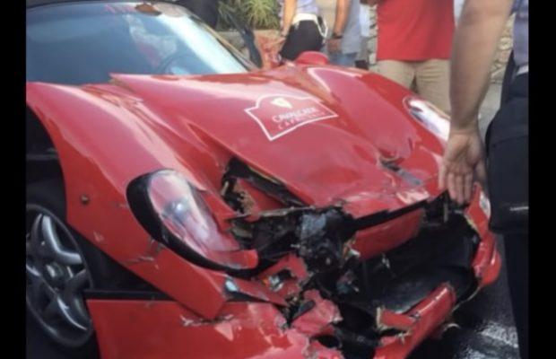 Ferrari F50 og 488 Pista uheld