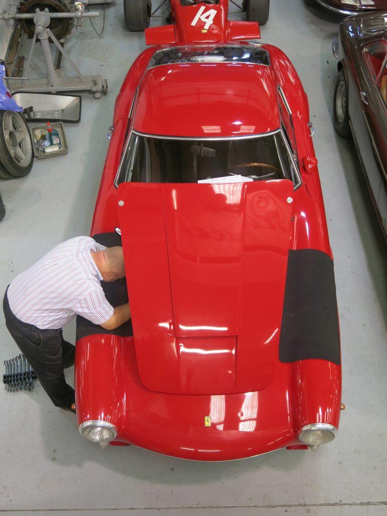 Inspektion af Ferrari 250
