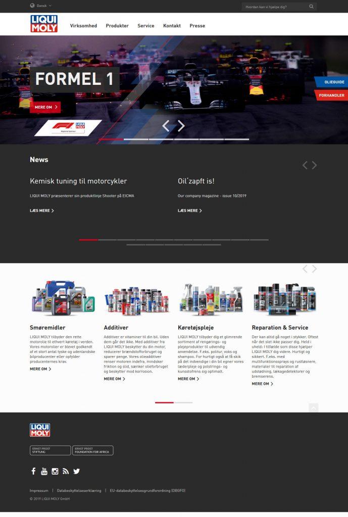 LIQUI MOLY åbner dansk website