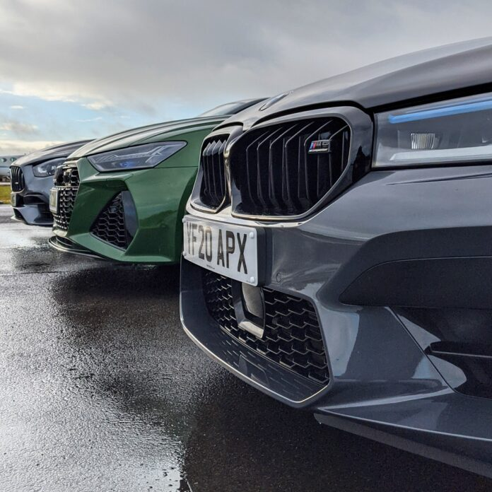Audi RS6, BMW M5, Mercedes C63s AMG