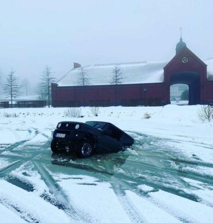 Anders Kirk Johansen igennem isen