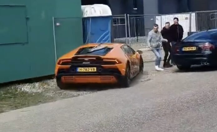 Lamborghini Huracan Evo crash
