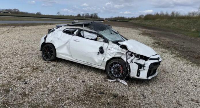 GR Yaris crash - kører galt til trackday