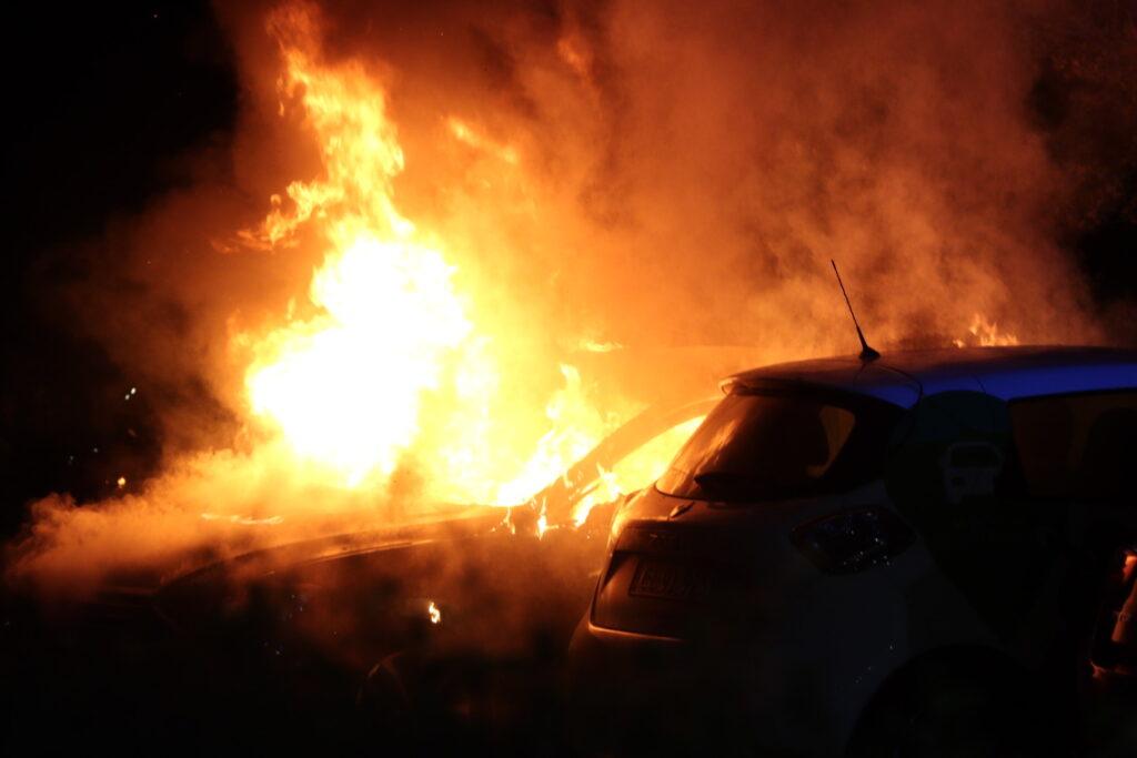 Brand i leasingbil