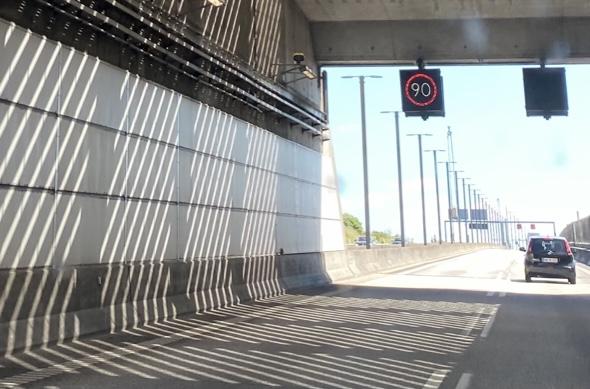 Fartkontrol i Øresundstunnellen
