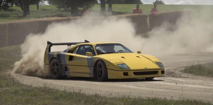Ferrari F40 rally drifting