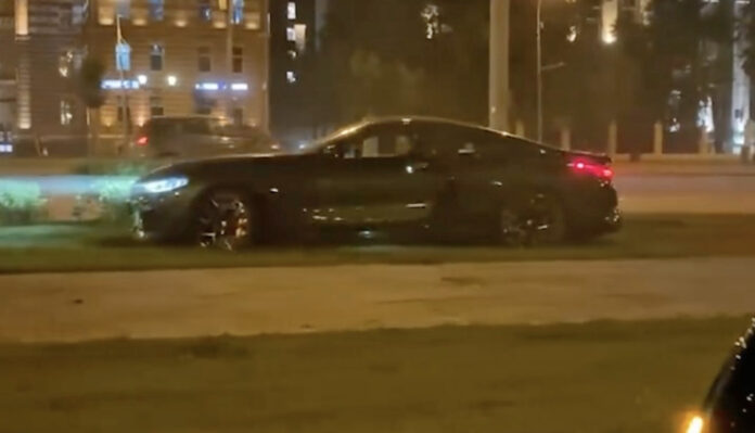BMW M8 Youtuber crash