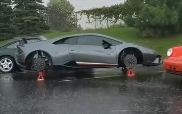 Lamborghini uden fælge