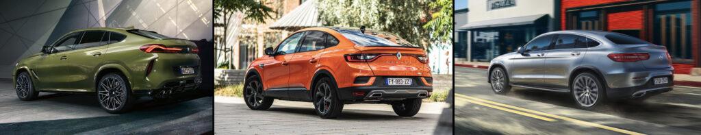 Renault Arkana sammenligning med BMW og Mercedes