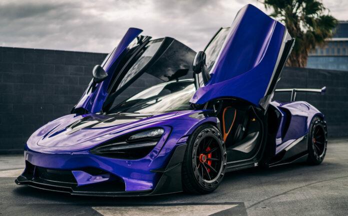 1016 Industries har givet den gale McLaren 720 vanvittige overarme - lilla er i øvrigt den eneste rigtige farve, mener tuneren