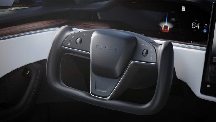 Teslas nye Yoke-rat skal bruges i modeller som Model S Plaid