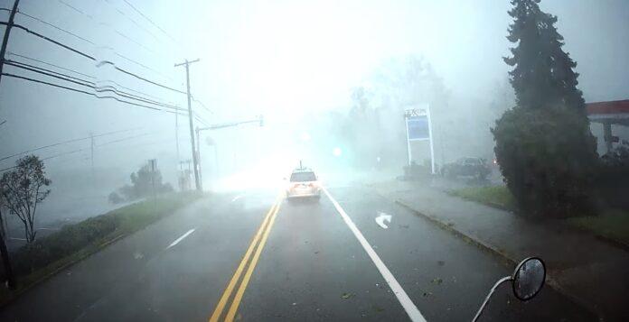 Tidligere i september væltede en tornado en lastbil i USA