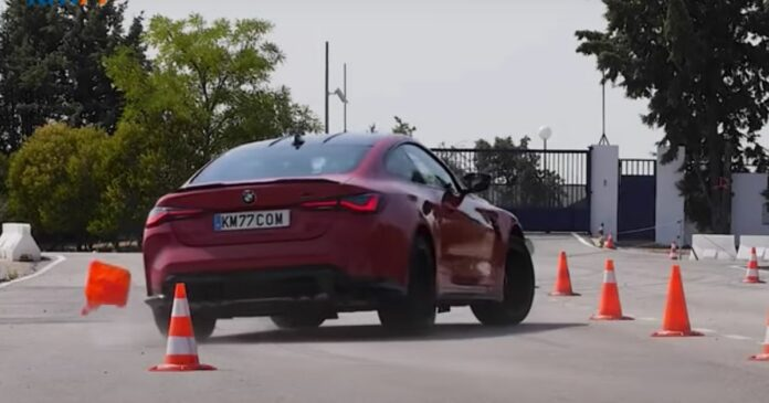 Den nye BMW M4 Competition har det svært med den berømte 'elgtest'